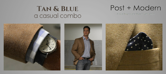 Tan Hopsack Sport Coat & Blue Jeans: A Casual Combo - Post + Modern