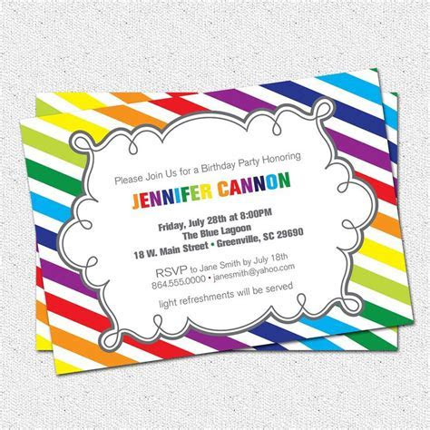 rainbow invitation template   Google Search   preschool