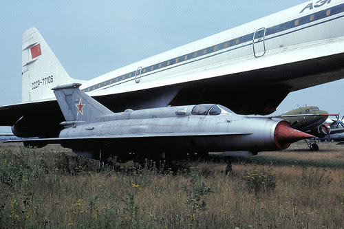 unmarked MiG-21
