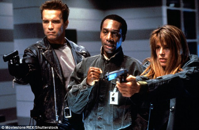 Reunited: Arnold is no doubt be keen to stay in the best shape possible ahead of filming  Terminator six - where he will reunite withLinda Hamilton (Sarah Connor)