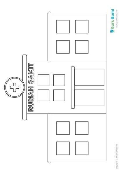 560 Koleksi Gambar Rumah Sakit Untuk Diwarnai Gratis Terbaru Gambar Rumah