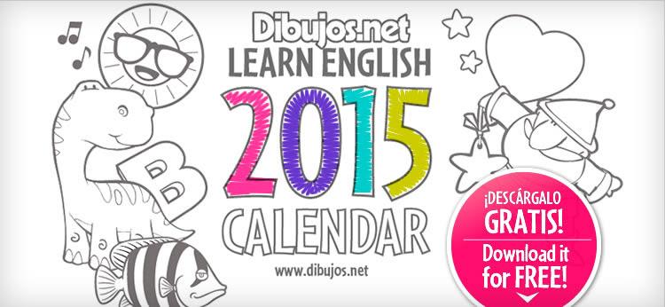 Aprende Los Meses Del Año En Inglés Con El 2015 Calendar Coloring
