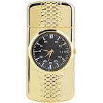 TOPINCN 2 in 1 Multifunctional Lighter USB Rechargeable Windproof Cigarette Lighter & Watch (Golden)