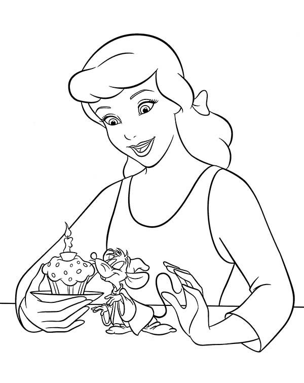 Birthday Princess Coloring Pages