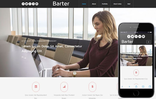 Barter a Corporate Category Flat Bootstrap Responsive Web Template