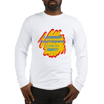 Government Shutdown Men's Long Sleeve T-Shirt