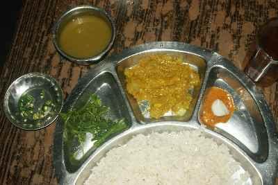 Nepali Food: Dal Bhat Tarkari (Dalbhat)