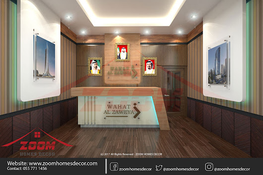 Office Interior - Reception desk and wall cladding... - Zoom Homes Decor