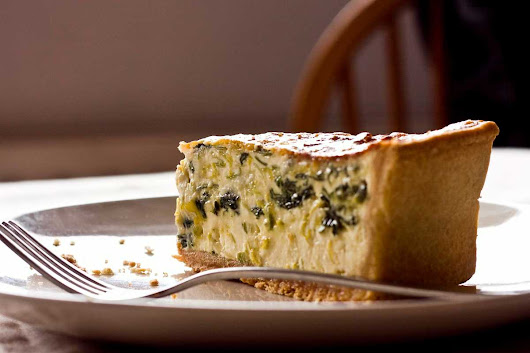 Leek and Roquefort Quiche | Grubdaily — For tasty things