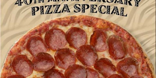 Anniversary Pizza Special | Johnstown