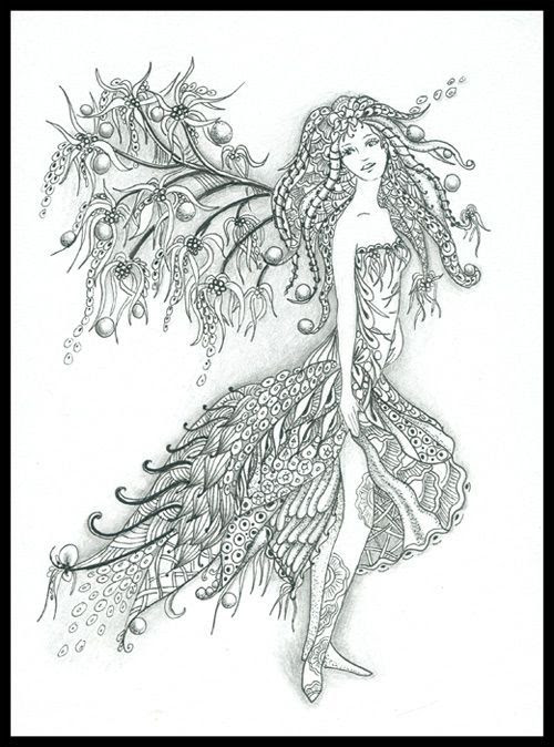 nature fairy | coloring pages | Pinterest