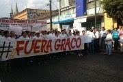 Una movilización contra Graco en Morelos, en abril pasado. Foto: Tomada de Twitter @luismiguelbaraa