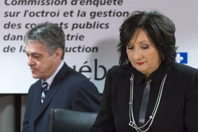 La juge France Charbonneau et le commissaire Renaud... (La Presse Canadienne)