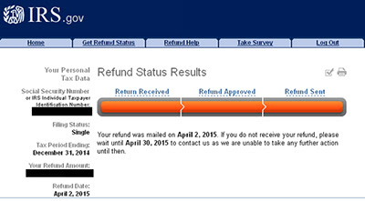 Financial services platform: Where do i check the status of my tax refund