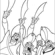 Dibujos Para Colorear Los Soldados De Jafar Eshellokidscom
