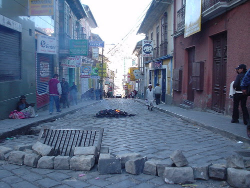 Small La Paz blockade (it's the thought that counts)