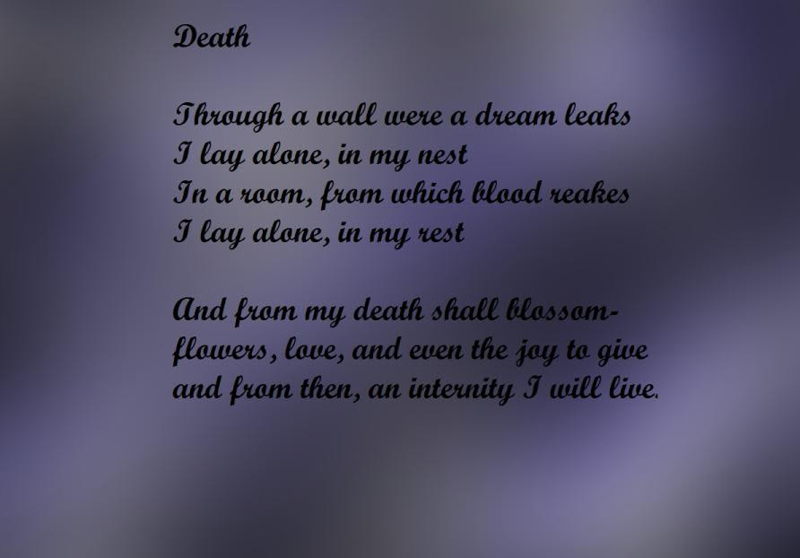 Download this Poem About Death picture