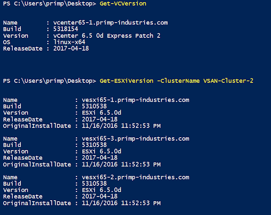 PowerCLI script to help correlate vCenter, ESXi & vSAN build/versions w/o manual VMware KB lookup