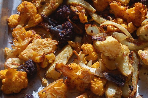 Roasted curried cauliflower by Eve Fox, Garden of Eating blog copyright 2010