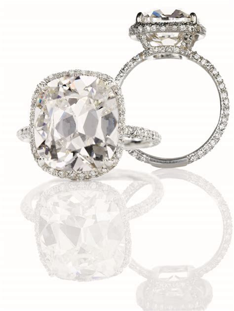 8 carat cushion cut engagement ring :: Hamilton Jewelers
