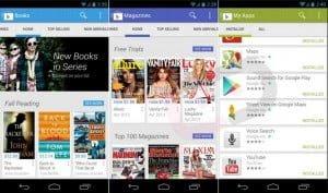 Aplicaciones Play Store Google