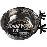 Midwest Stainless Steel Snap'y Fit Water and Feed Bowl - 20 Ounces