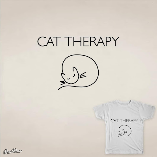 Cat Therapy on Threadless