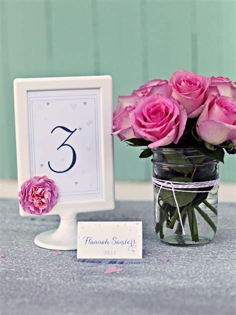 21 DIY Wedding Table Number Ideas   DIY