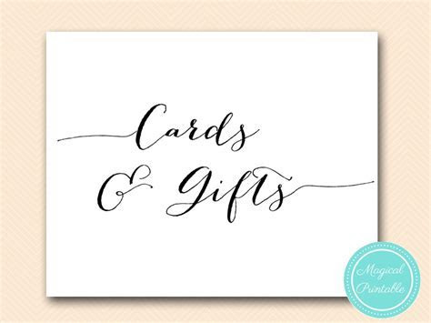 Wedding Decoration Signs   Magical Printable