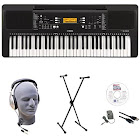 Yamaha PSR-E363 EPS 61-Key Premium Lighted Keyboard Pack with Stand, Headphones, Power