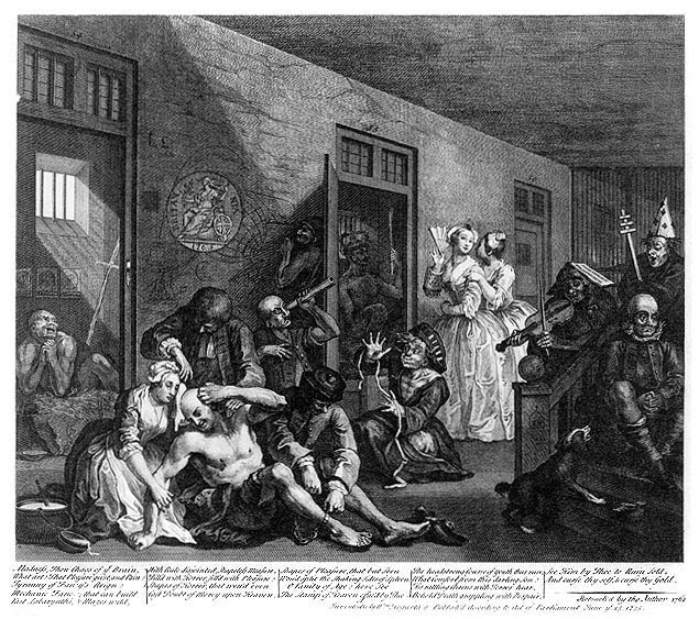 File:William Hogarth - A Rake's Progress - Plate 8 - In The Madhouse.jpg