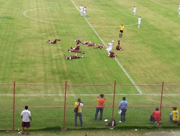 Comemoração Desportiva Ferroviária (Foto: Bruno Marques/Globoesporte.com)