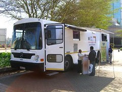 mobile library bus - front