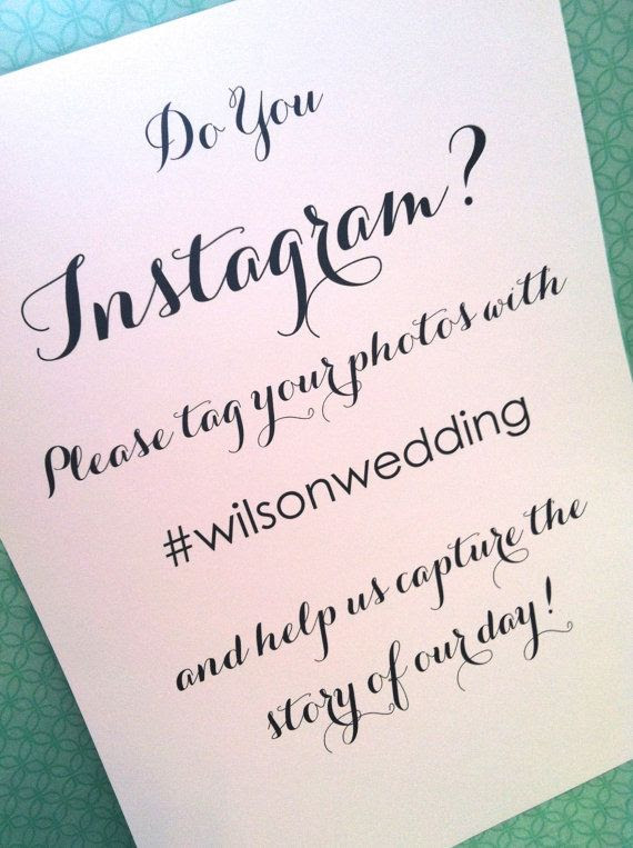 Instagram sign  wedding sign reception sign by SerendipityDesigned, $4.00