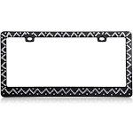 Insten Chevron Diamond License Plate Frame, Black