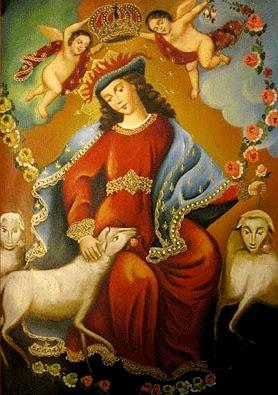 La Divina Pastora by David Chavez Galdos © 2010 Escuela cusqueña - Arte y Fe, Cuzco