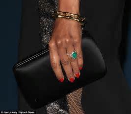 Zoe Saldana shows off emerald engagement ring from husband