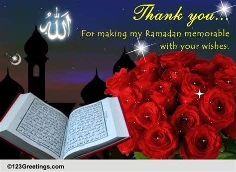 Ramadan Thank You. Free Thank You eCards, Greeting Cards