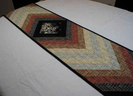 Elegant Long (79-5/8″) Unique Quilted Table Runner |