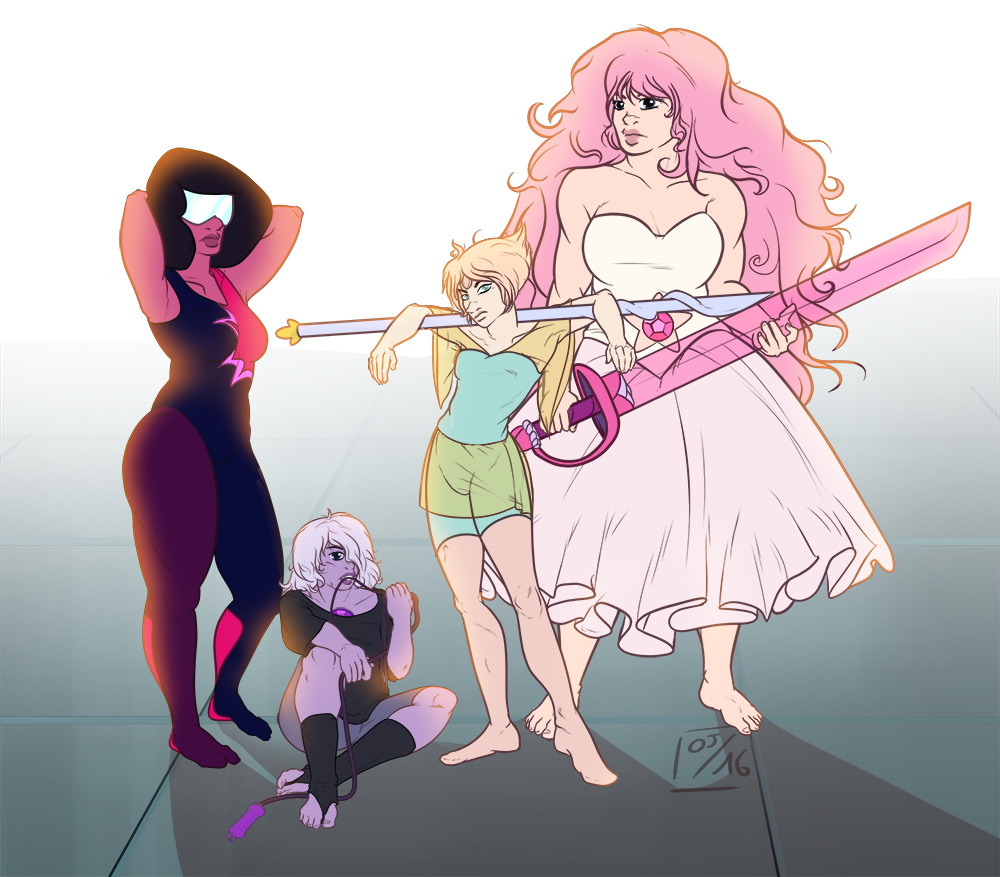 Promised you a redraw of this piece ! And decided to add the other gems as well.