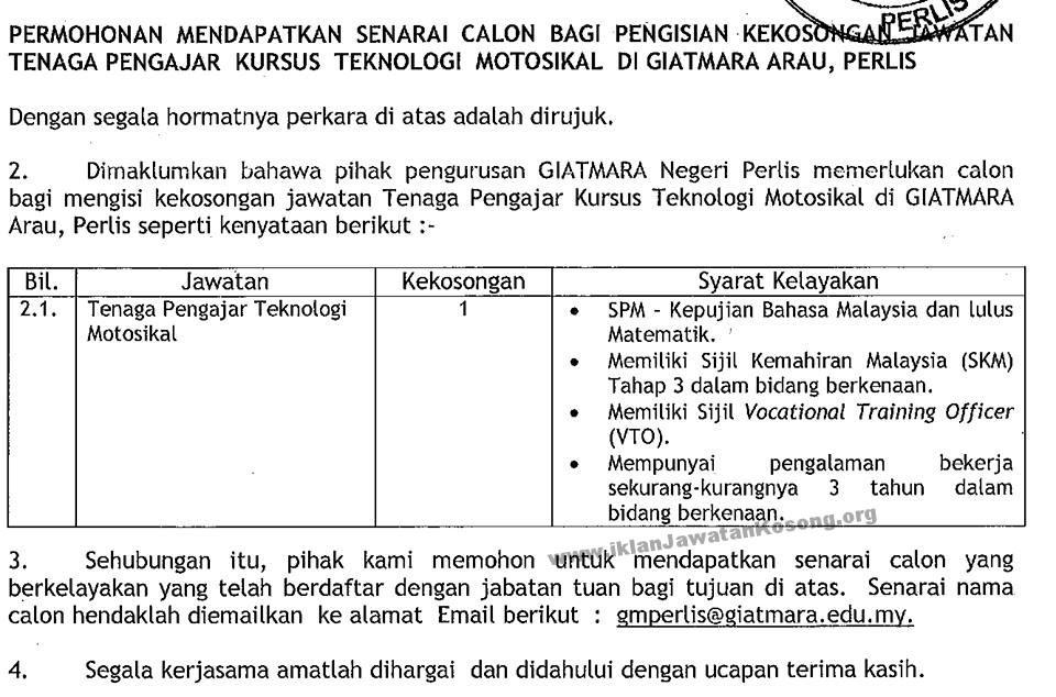 Jawatan Kosong Pengajar Sambilan Harian Institut Latihan Perindustrian Arumugam Pillai فيسبوك