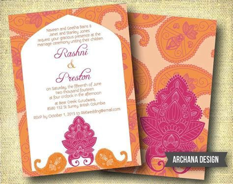 Indian Wedding Invitation Custom DIY Digital Pink by