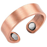Brushed Copper Magnetic Therapy Resizable Ring