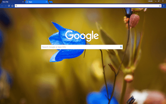 Custom Round Bell Flower HD Google Chrome Theme Download ...