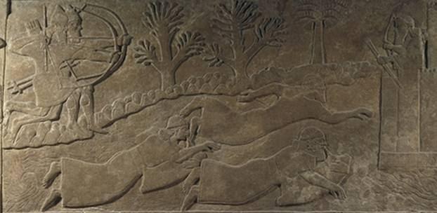 Resultado de imagen de relieve asirio buceadores