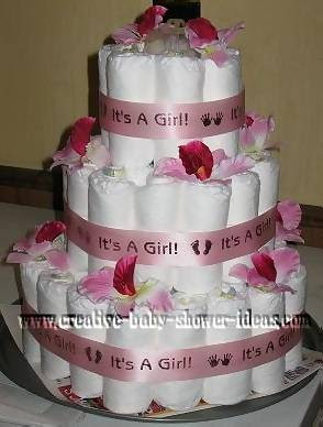 Girl Diaper Cake Photos And Preparation Tips