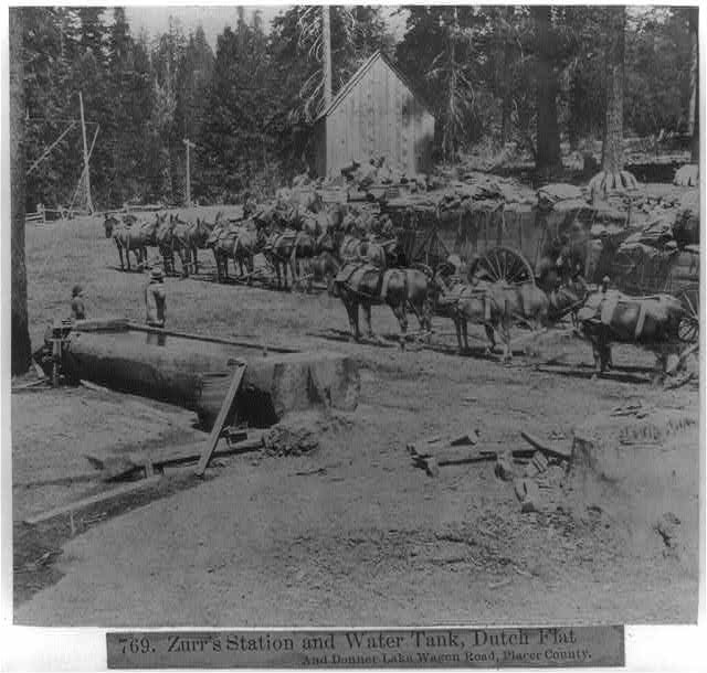 Zurr's Station and Water Tank, Dutch Flat and Donner Lake Wagon Road, Placer County