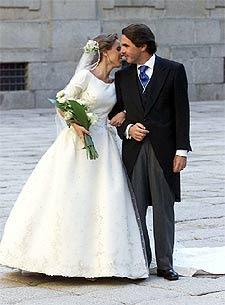 Aznar con su hija Ana, el día de su boda