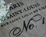 Burlap Table Runner w/ Paris Screen Print Design