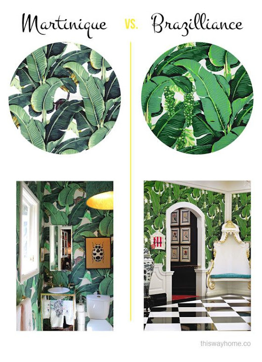 Gone Bananas {All the heart eyes for Banana Leaf, Palm & Martinique Prints}